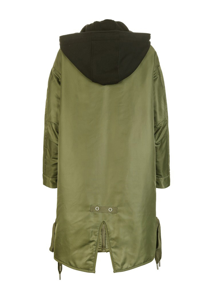 ONLY Women's Lace-up Hooded Cotton Coat |118122502 17