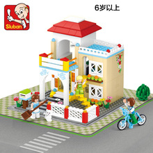 Sluban model building kits compatible with lego city villa 658 3D blocks Educational model & building toys hobbies for children