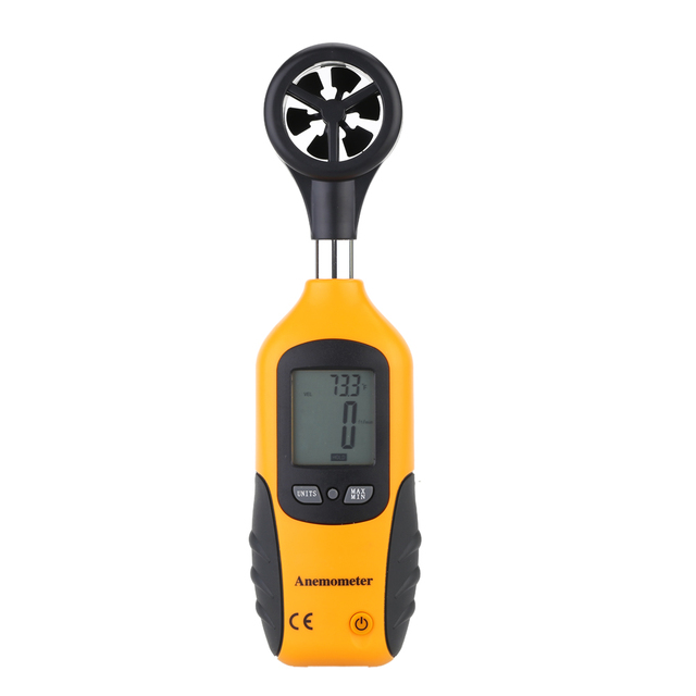 High Quality Digital Anemometer Wind Speed Meter Air Flow Meter Portable HT-81 LCD Display Velocity Temperature Measuring Tester