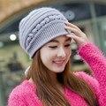 Chapéu do inverno feminino chapéu feito malha moda outono e inverno ouvido biqueira cobrindo cap nova marca feminina das mulheres inverno quente gorros