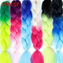 Лучший!  Page 24 24 Дюйма 105 Цветные Синтетические Волосы Африканские Афро Джамбо Плетение Волос Синий  Лучший!