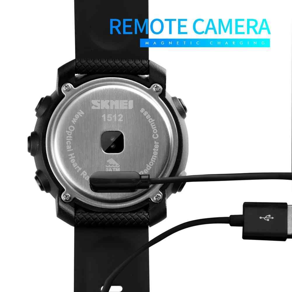 SKMEI Smart Watch Fashion Sport Men Watch Life Waterproof Bluetooth Magnetic Chargeing Electronic Compass reloj inteligent 1512