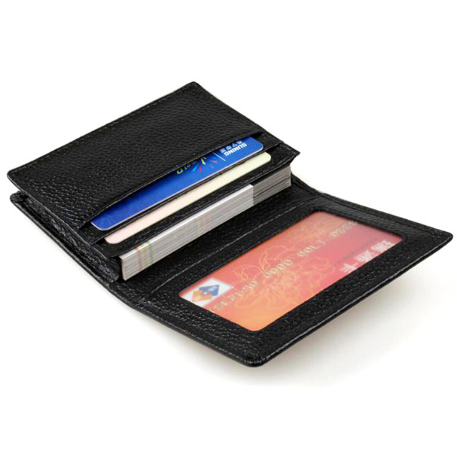 Genuine Leather Name Card Holder Box Business Name Card Holder Case