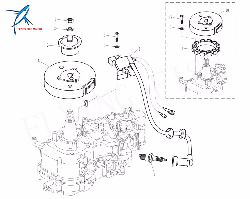 6bx 85510 A0 Lighting Coil Assy For Yamaha Outboard F4l F4s F6l F6s 2 Stroke Carburetor Diagram Together With 4 F6c In Boat Engine From Automobiles Motorcycles On Alibaba