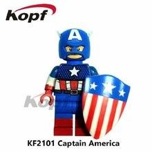 KF2101 Super Heroes Captain America Spiderman Bricks Action Figures Best Learning Building Blocks Model For Children Toys Gift