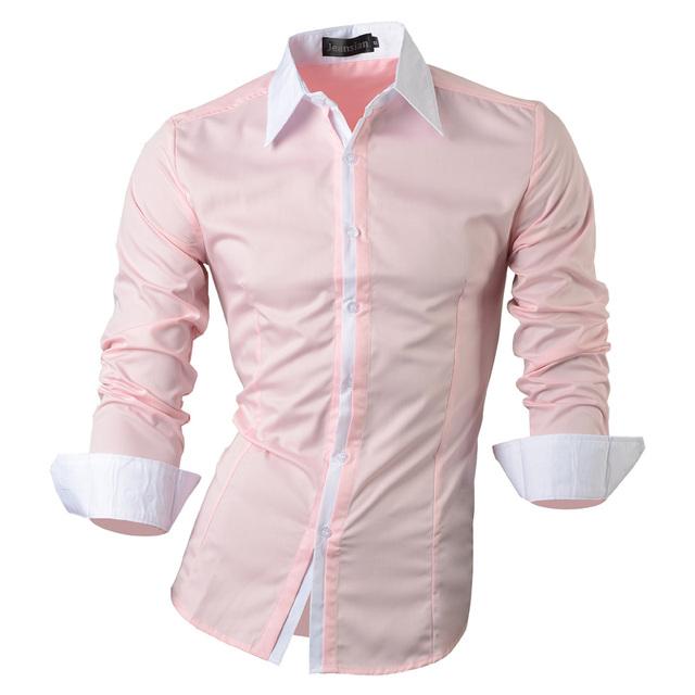 2017 Del Otoño Del Resorte Características Camisas Hombres Casual Jeans Camisa Nueva Llegada de Manga Larga Casual Slim Fit Camisas Masculinas 1073