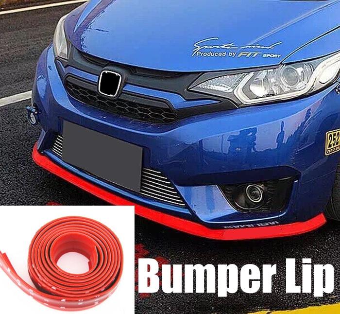 RUICK Car Bumper Guards Universal Carbon Fiber Front Spoiler Lip Side Skirt Protector Rubber DIY Anti-Scratch for Cars SUV Trucks Blue