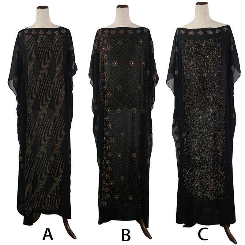 chiffon african dresses for women african ankara dresses festa dashiki fashion black diamond dress sale plus africa clothing in Africa Clothing from Novelty Special Use