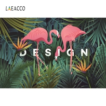 Laeacco Palm Tree Leaves Swans Party Backdrop Photocall Photography Background Customized Backdrops For Photo Studio