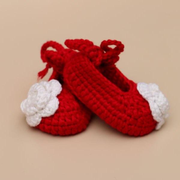Zapatos de bebé recién nacido hecho a mano de ganchillo zapatos de ...