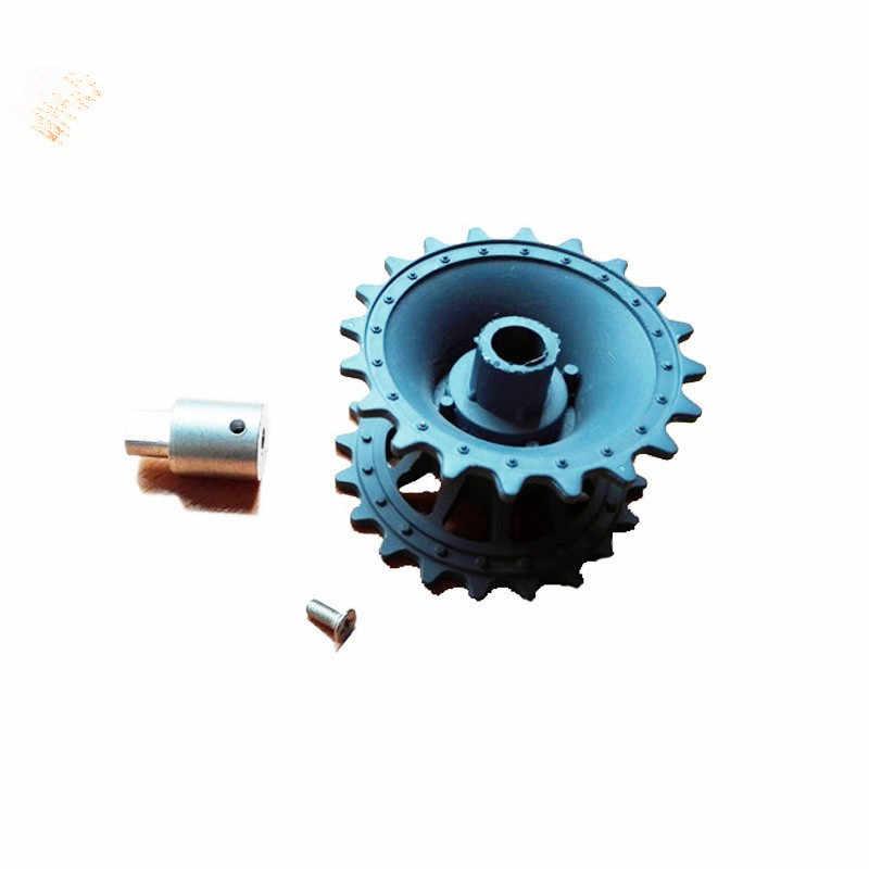 محرك/محرك 25 مللي متر + عجلة قيادة بلاستيكية + موصل اقتران ، براغي لخزان روبوت ملحقات هيكل السيارة/جزء مجموعة ألعاب RC ذاتية الصنع