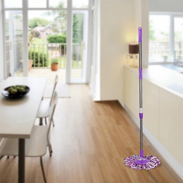 Feliz Casa de Spin Mop Pólo Handle Substituição para Andar Mop 360 Sem Pedal Versão 1 Peça