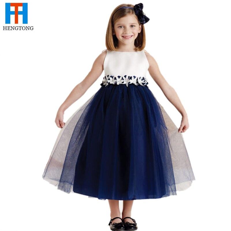 flower girl dresses white and navy