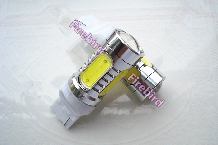 2 x T20/7440 15W power white red led car reverse lights, turn signal brake lights, free shipping