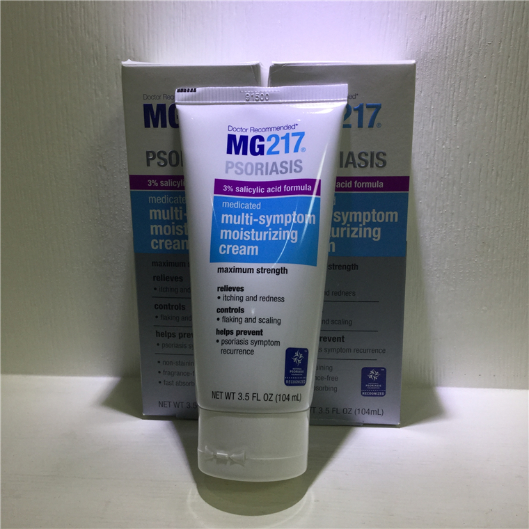Original MG217 Psoriasis Medicated Multi-Symptom Moisturizing Cream Itching And Redness 3.5 oz Skin ointment 104g