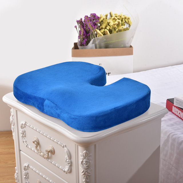 Cojín de asiento transpirable de viaje coxis ortopédico de espuma de memoria U asiento de masaje cojín de silla para la decoración del hogar de la Oficina del coche