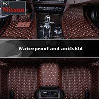 Fashion Good! Custom Special Floor Mats Non Slip Car Carpets For Nissan Tiida Bluebird Lannia Murano Cima Sylphy Geniss Sunny