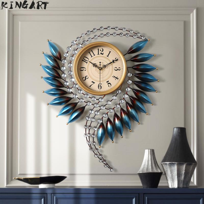 Wall-Clock Bedroom Metal Living-Room Large Modern-Design Home 3d Big Corridor  title=
