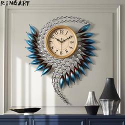 Reloj de pared grande 3d diseño moderno reloj de pared grande Metal diseño moderno arte de pared para pasillo de Casa Sala decoración de pared del dormitorio