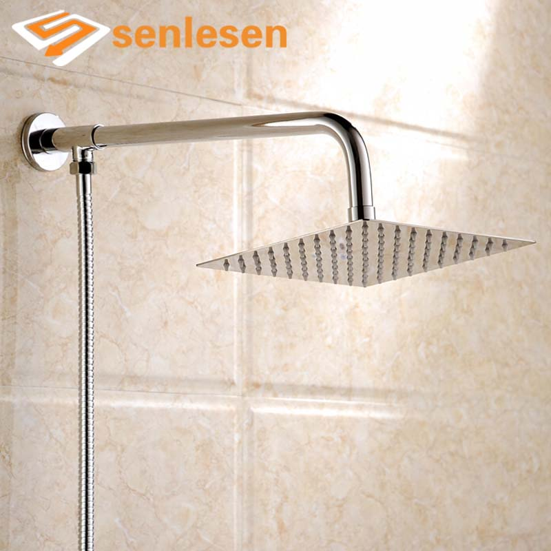 Wholesale And Retail stainless Steel Wall Mounted Square Rain Shower ...