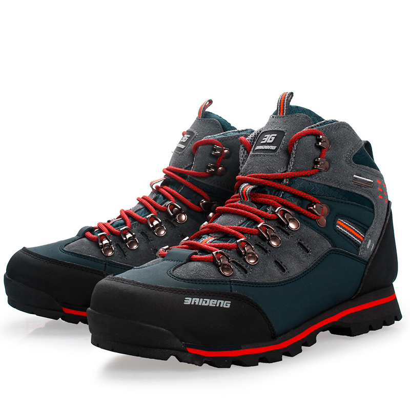 CUNGE Men's Outdoor Trekking Hiking Boots Anti-skid Boots Men Shoes Top Quality Mountain Climbing Shoes 2018 new wide c d w massage sapatilhas outdoor trekking boots anti skid brand men shoes top quality mountain climbing hiking