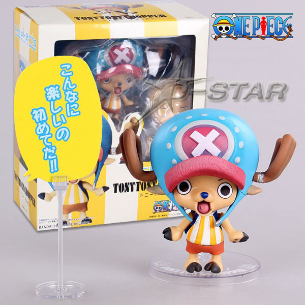 """Free Shipping Cute 3"""" Nendoroid One Piece Anime Tony Tony Chopper DIY Boxed 8cm PVC Action Figure Collection Model Doll Toy"""