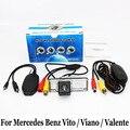Para Mercedes Benz Classe V W639/Vito/Viano/Valente/RCA AUX Fio Ou Sem Fio/HD CCD de Visão Noturna/Câmera de Visão Traseira Do Carro
