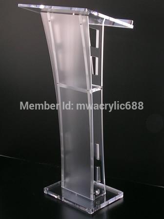 Free Shipping Beautiful Easy Cheap Detachable Acrylic Podium Pulpit Lectern podium