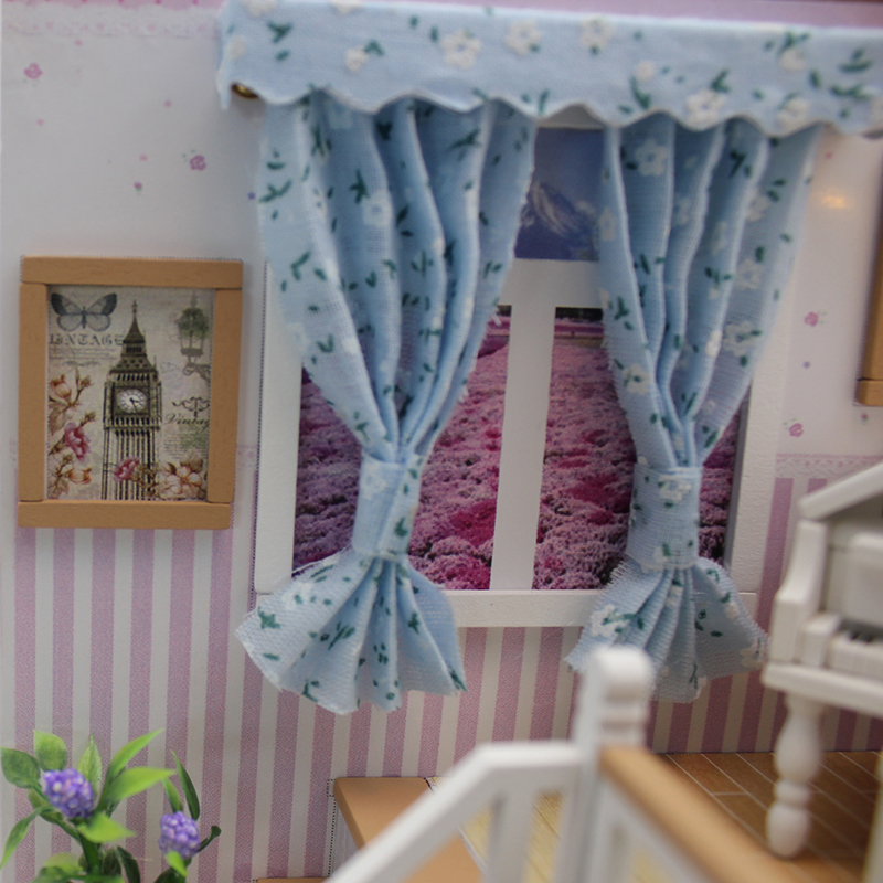 CUTEBEE-Doll-House-Miniature-DIY-Dollhouse-With-Furnitures-Wooden-House-Stars-Sky-Toys-For-Children-Birthday-Gift-M026-3