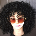 Short curly synthetic wig For women natural hair Afro kinky curly hair wig  short ombre bob curly wigs  Africian Americian wigs