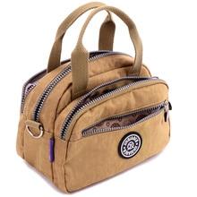 Модные женские водонепроницаемые нейлоновые сумки-мессенджеры, женские сумки через плечо, повседневные сумки для девочек, сумки через плечо, школьная сумка