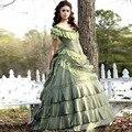 2016 Vintage Victorian Quinceanera Dresses Corset Nina Dobrev Taffeta 15 Girl Pageant Dress Katherine Vampire Diaries Ball Gown