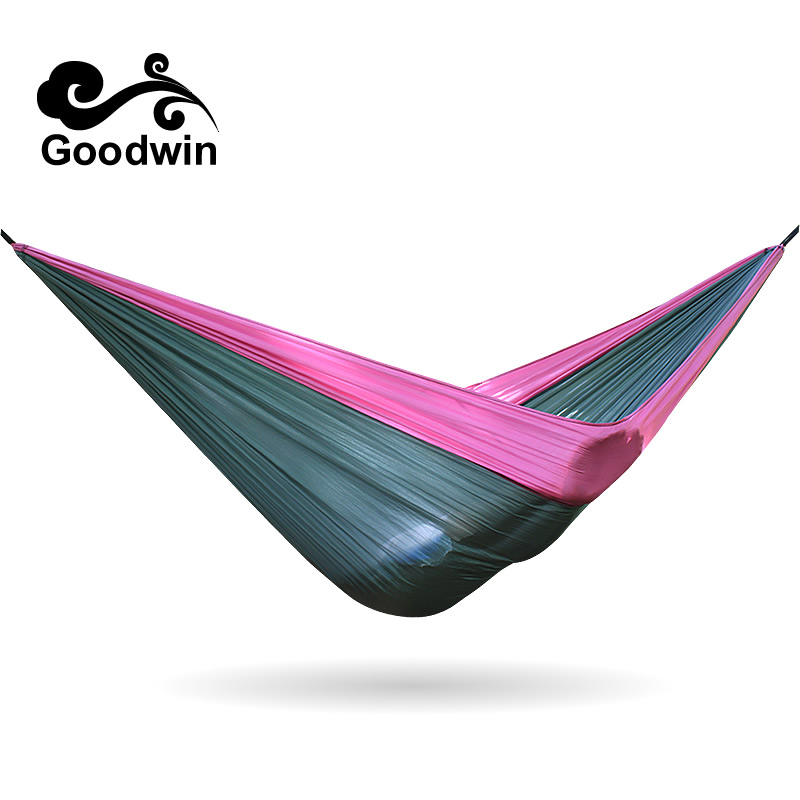 Outdoor Camping Survival Breathable Light Double Sleeping-hammock Swing Chair Parachute Rope Hammock Accessories Cloth In Door thicken canvas single camping hammock outdoors durable breathable 280x80cm hammocks like parachute for traveling bushwalking