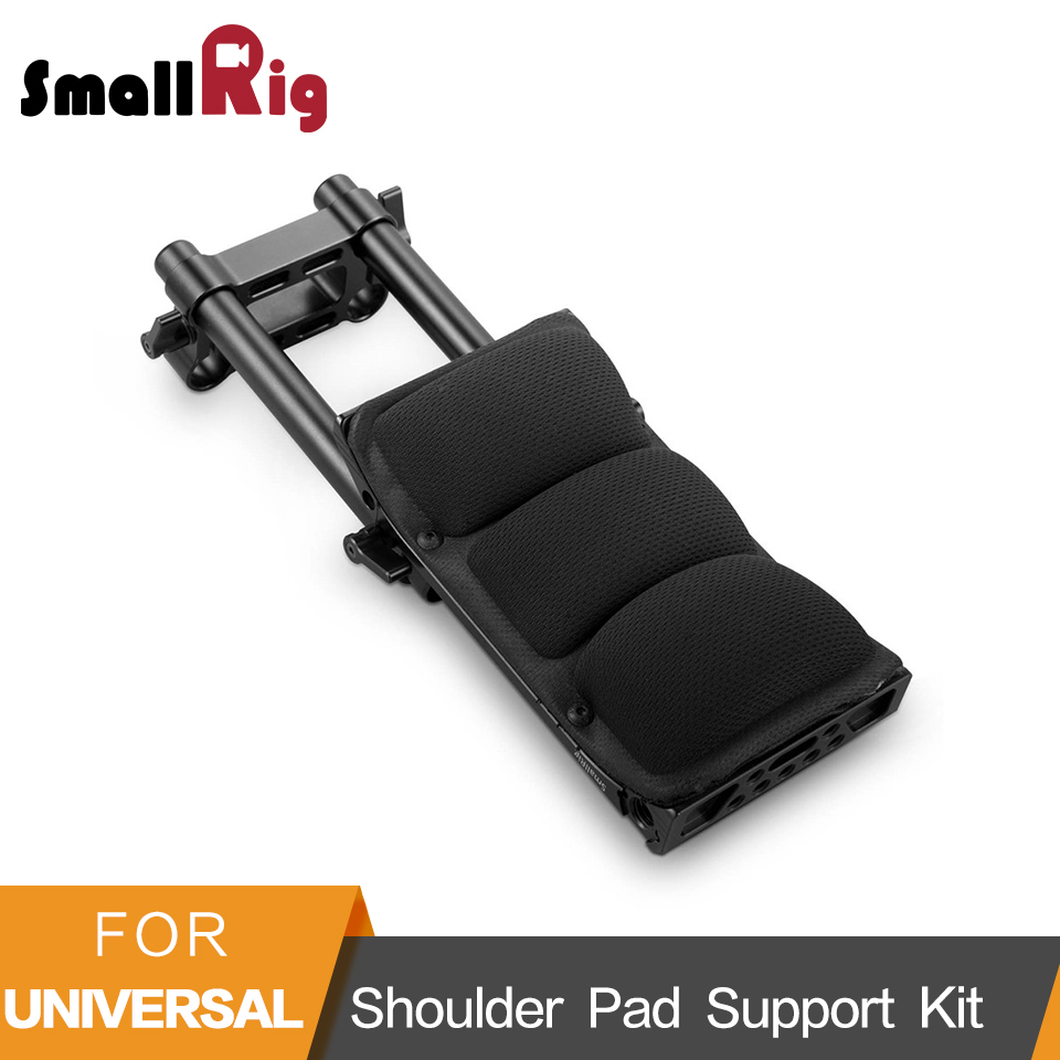 SmallRig DSLR Camera Stabilizer Shoulder Pad Support Kit With 15mm Rod Rail Clamp 1/4 3/8 Thread Holes - 2167