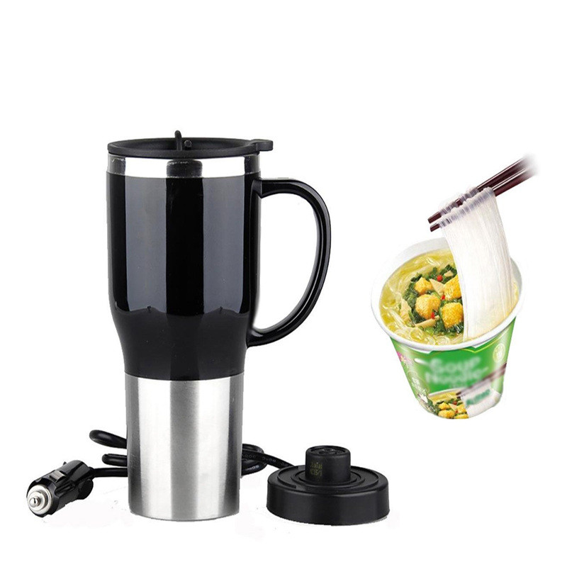 400ml 12V 4Color Car Mini Car Electric Cup Stainless Steel Kettle Travel Trip Coffee Tea Heated Mug Motor Hot Water For Car Use creative cake style water coffee milk cup pink black 400ml