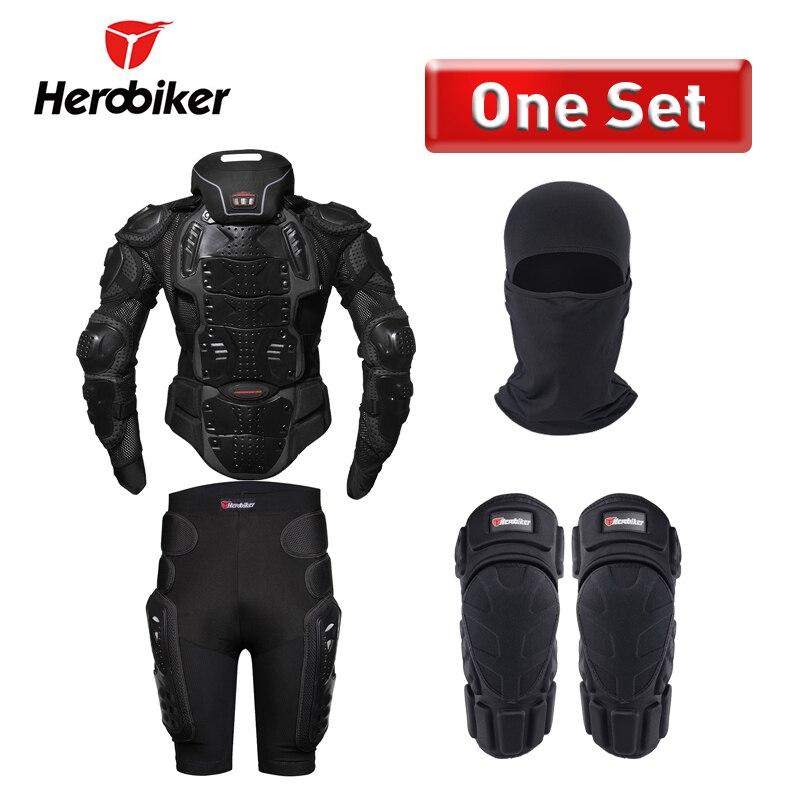 Herobiker мотоцикл броня защиты всего тела защитные Шестерни байкерская куртка Мото-куртки с шеи защитника