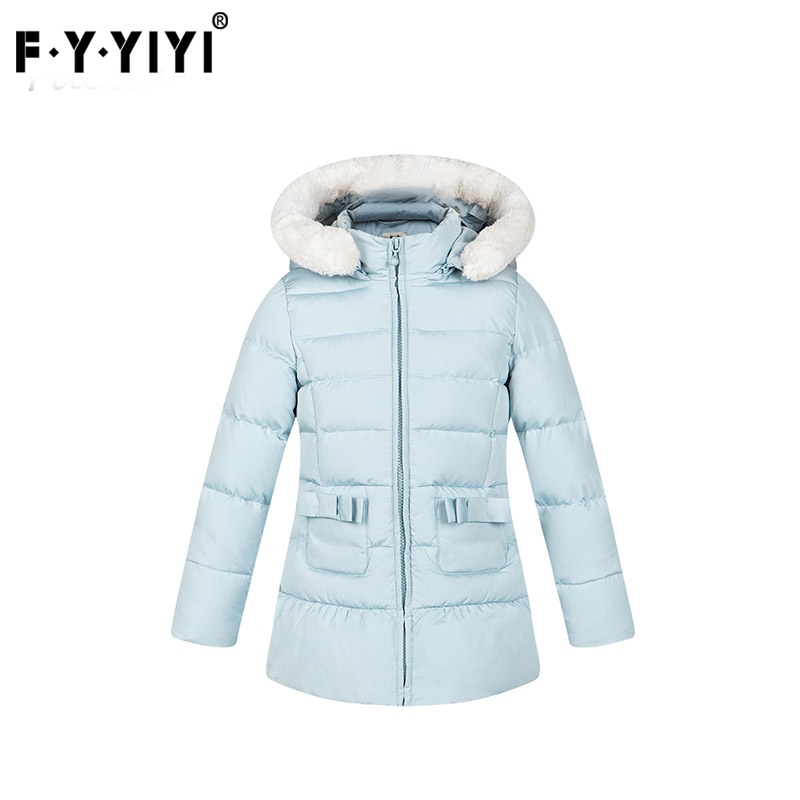 New Winter Collection Solid color pure waist hooded long down jacket girls Winter Kids Jackets chic long batwing sleeve hooded pure color women s jacket