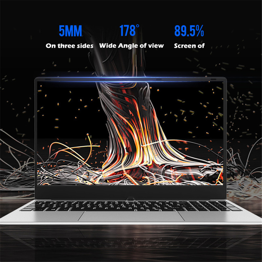 Image 2 - 15.6 Inch Intel i7 Laptop 8GB/16GB RAM 512GB 1TB HDD Metal Body 1080P Windows 10 layout Keyboard Dual Band WiFi Gaming Laptop-in Laptops from Computer & Office