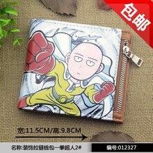 Anime UNO PUNCH-MAN Cosplay anime Japonés cremalleras nueva sección corta de los hombres y mujeres billetera regalo del niño