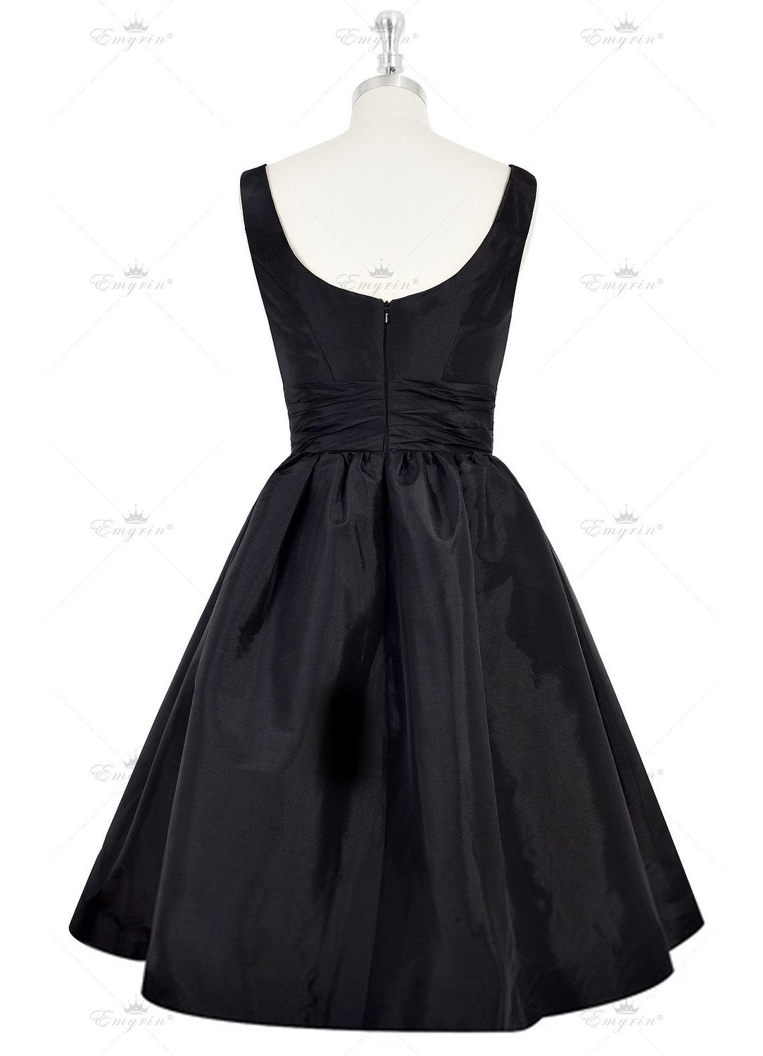 977416b91b Women s Knee length Satin Frock Scooped Back Swingy Black Dresses Ladies  prom party Dress-in Dresses from Women s Clothing on Aliexpress.com