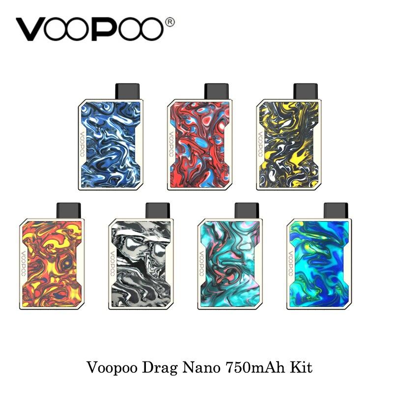 5pcs lot electronic cigarette Voopoo Drag Nano 750mAh All In One Vape Starter Kit Compact