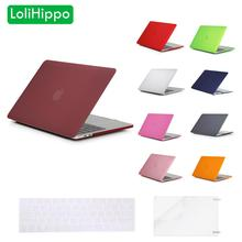 LoliHippo Frosted Laptop Protective Case for Apple MacBook New Air Pro 11 12 13.3 15.4 Inch Retina Notebook Colorized Hard Cover