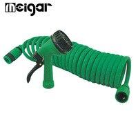 1PC Green Spray Guns Adjustable Car Washing Garden Sprayer Portable High Pressure Guns Sprinkler Nozzle Water Guns With 15M Hose