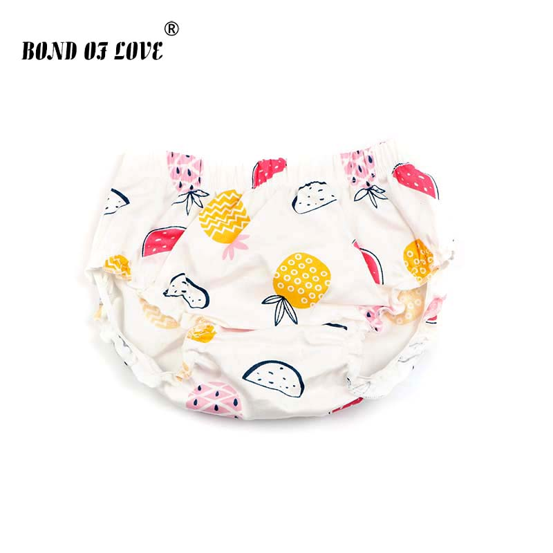 Baby Bloomers Fruit Pineapple Printed Ruffle Cotton Diaper Cover Toddler Infant   Shorts   Baby Girls Boys Panties Fashion Clothes