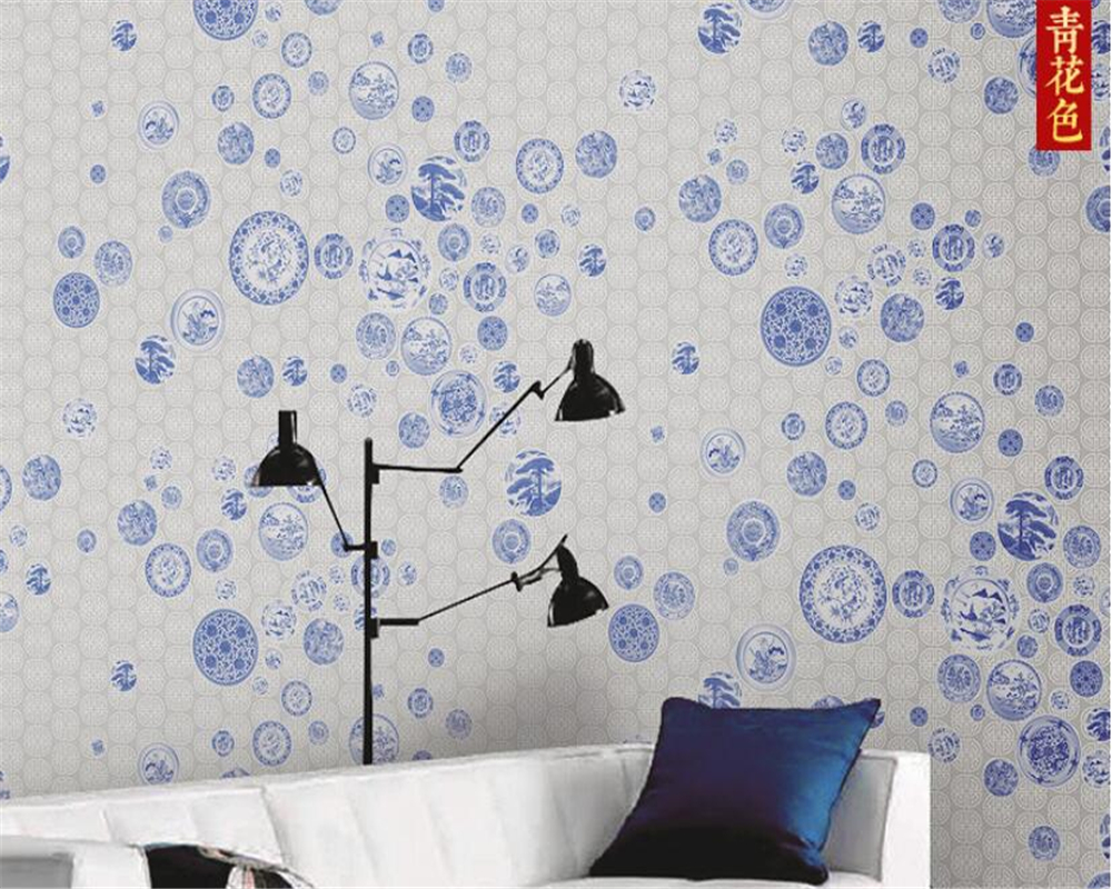 beibehang Vinyl wallBlue and white porcelain retro red Chinese office bedroom background decorative mural wall papers home decorbeibehang Vinyl wallBlue and white porcelain retro red Chinese office bedroom background decorative mural wall papers home decor