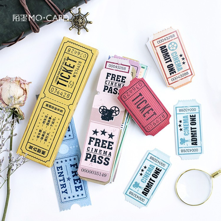 Creative Retro Ticket Paper Bookmark Vintage Japanese Style Book Marks Stationery Book Clip Office Accessories School Supplies