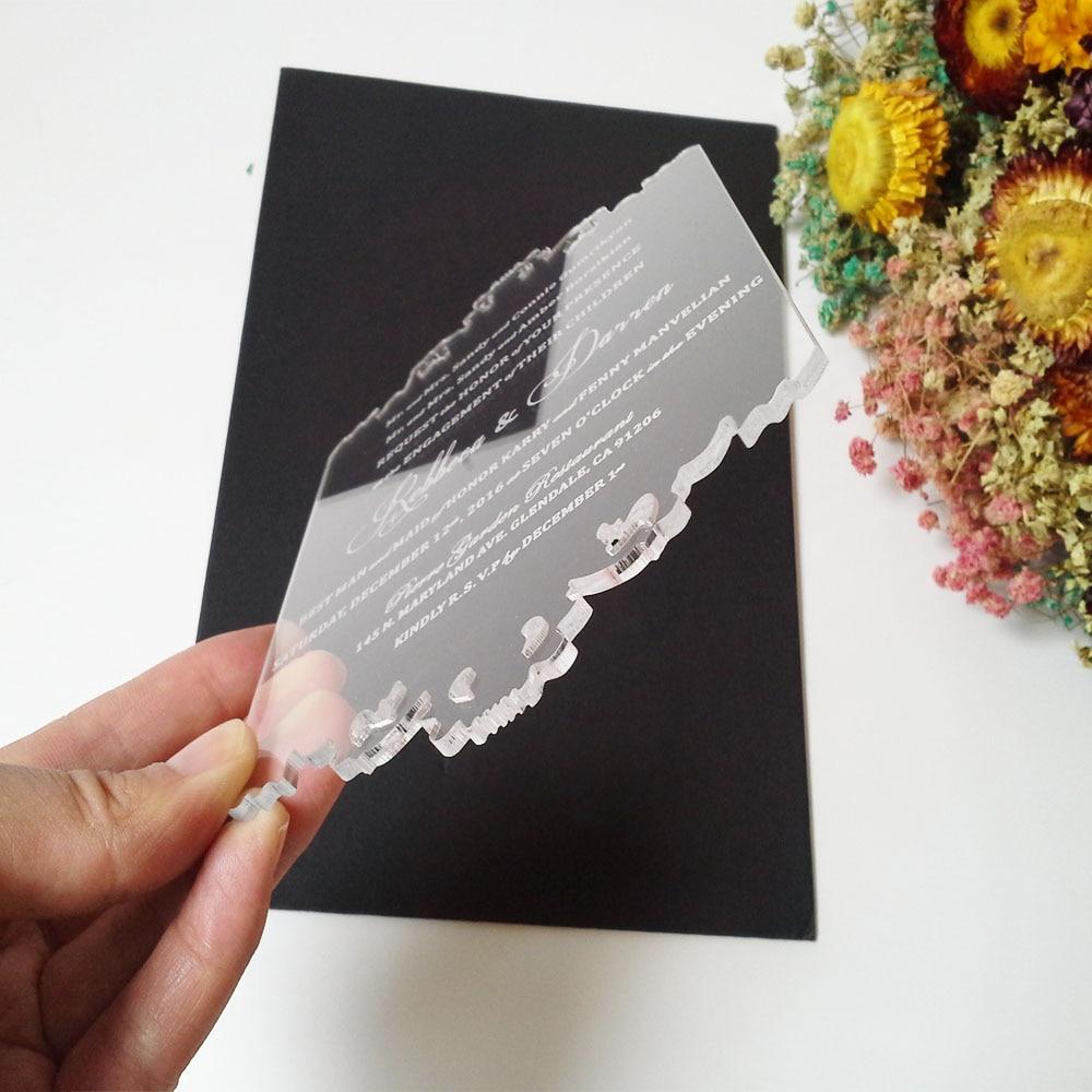Tarjeta personalizada de invitación de boda de acrílico - Para fiestas y celebraciones - foto 6