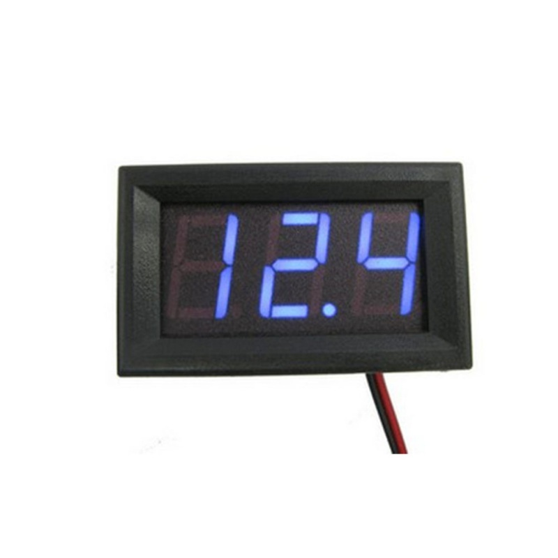 DC 0-30V Red/Blue/Green Auto <font><b>Car</b></font> Mini Voltmeter Tester Digital Voltage Test <font><b>Battery</b></font> image