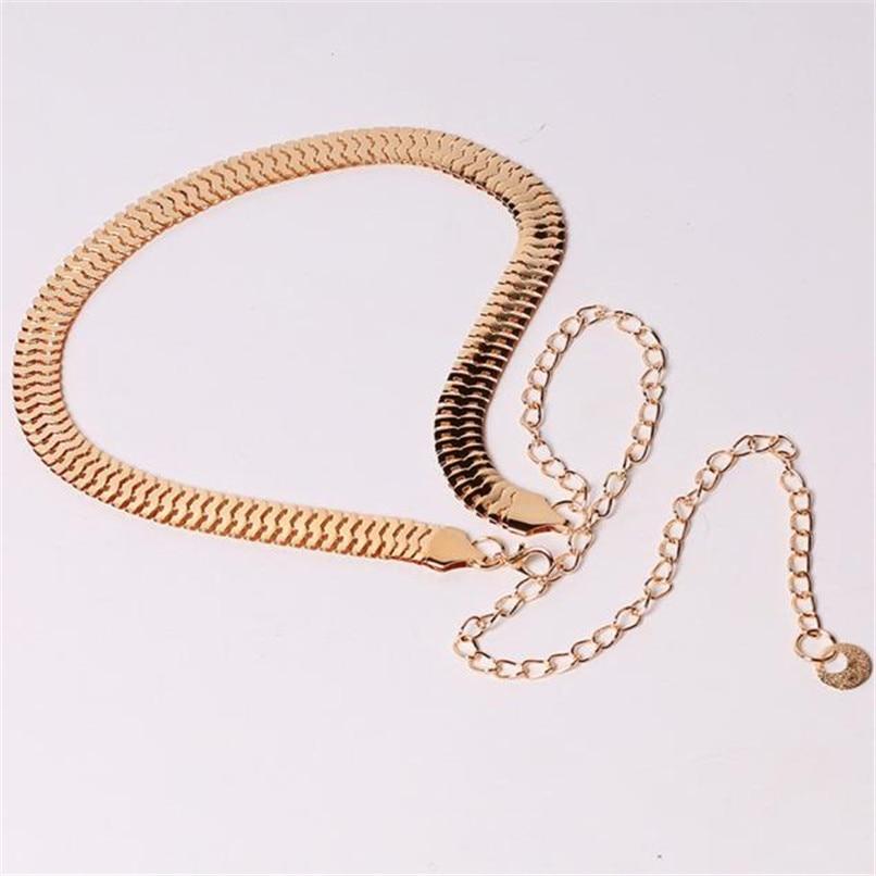 Women\'s Lady Fashion Metal Chain Pearl Style Belt Body Chain  Belts For Women Dresses Waist Belt Women Slim 40AG302