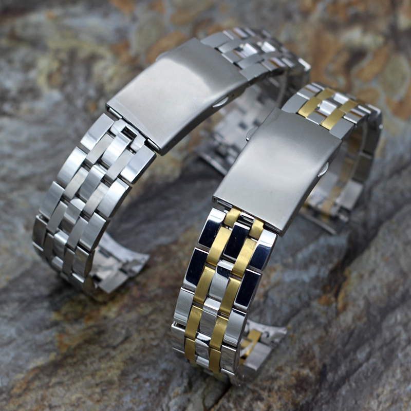 <font><b>19mm</b></font> 20mm High Quality Stainless Steel Watchbands For Tissot Watch Strap Men's Metal Watch Bracelets 1853 T17 T461 T014430 T0144 image